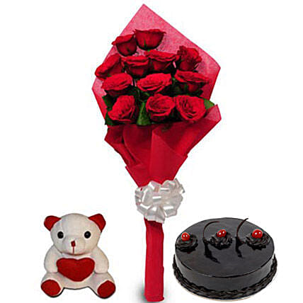 Love Treat for you: Flowers & Teddy Bears