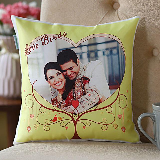 Lovebirds Personalized Cushion: Buy Cushions