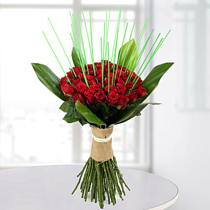Magnificent Red Roses Bunch: Designer Bouquet