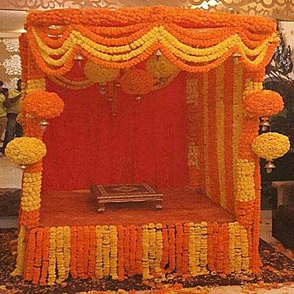 Marigold Special Ganpati Decoration: