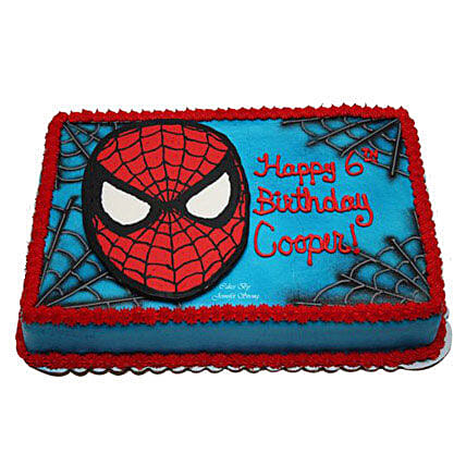 Mask of Spiderman Cake: Cartoon Cakes