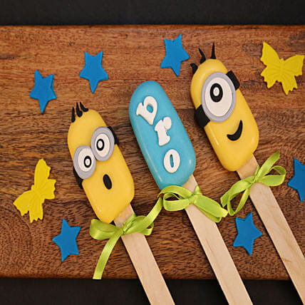 Minions Cakesicles For Bro,Set of 3