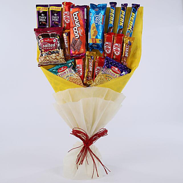 d0285c913856 Mix Snacks Bouquet  Send Chocolate Bouquet