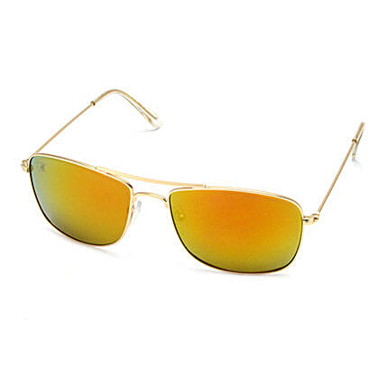 MTV Unisex Yellow Rectangular Sunglasses: Sunglasses