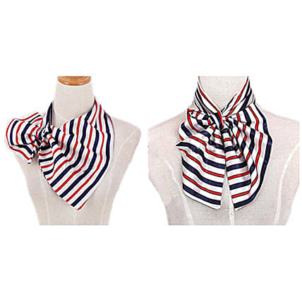 Multicolor Silk Scarf For Women: Send Jewellery Gifts