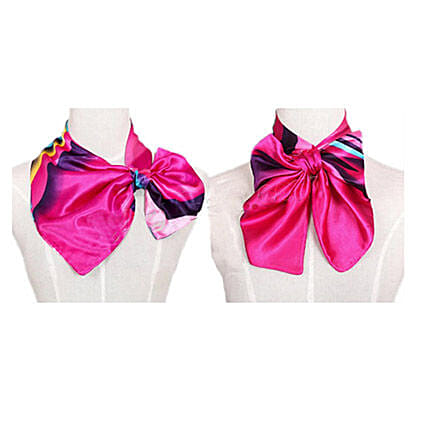 Multicolor Stripes Women Silk Scarf: Scarves And Stoles