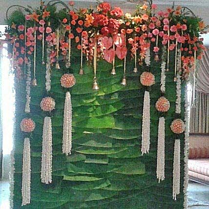 Multiple Hanging Flowers Decoration: Carnations