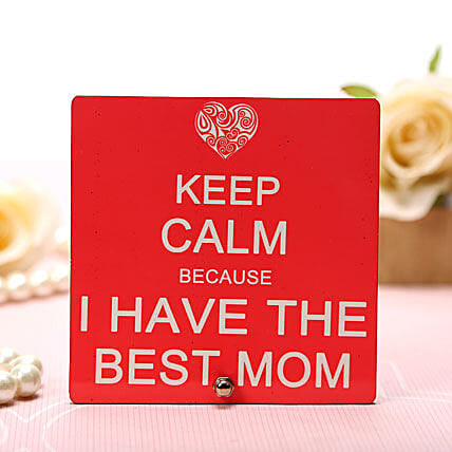My Best Mom Plaque: Plaques