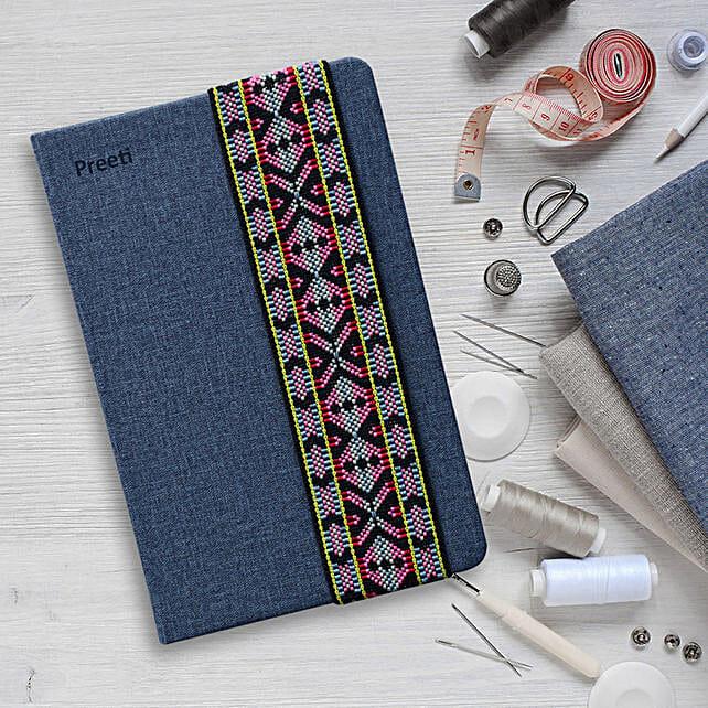 Needle Craft Blue Personalised Diary: Personalised Stationary
