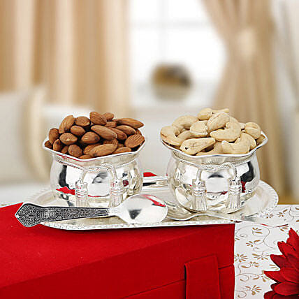 Nuts and Bowls: Sargi for Karwa Chauth