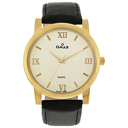 Omax Analog Watch For Smart Men White: Fashion Accessories