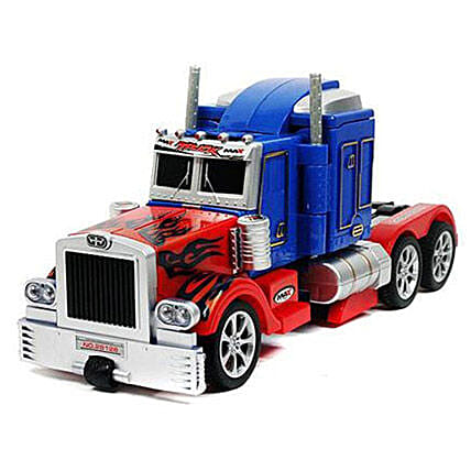 Optimus One Button Transforming Car: Toys and Games
