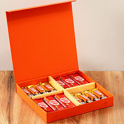 Orange FNP Gift Box Of Chocolates: Gifts for Hug Day