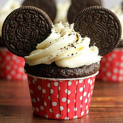 Oreo Twirling Cupcakes: Mickey Mouse Cakes
