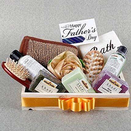 Pamper Dad Khadi Gift Hamper: Fathers Day Gift Hampers