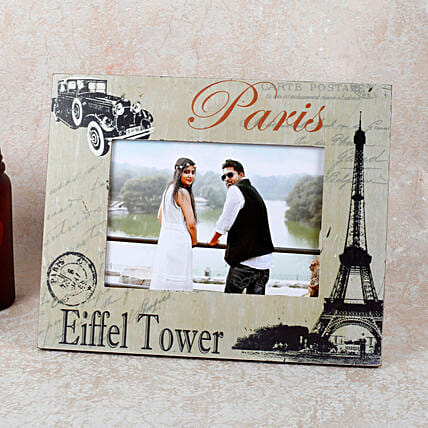 Paris Eiffel Tower Photo Frame: Personalised Photo Frames Gifts