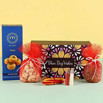Peda Sweet Treats Hamper For Bhai Dooj: Bhai Dooj Gift Hampers