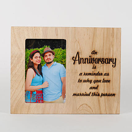 Personalised Anniversary Engraved Frame: Photo Frames