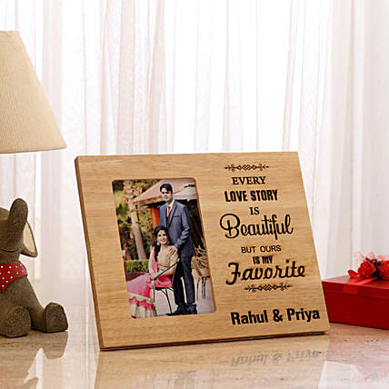 Personalised Beautiful Love Story Photo Frame: Personalised Photo Frames
