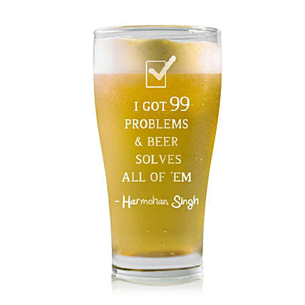 Personalised Beer Glass 2223: