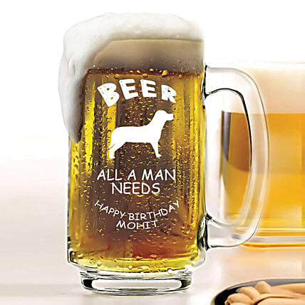 Personalised Beer Mug 1080: Personalised Beer Glasses