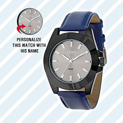 Personalised Black & Grey Watch For Him: Personalised Accessories