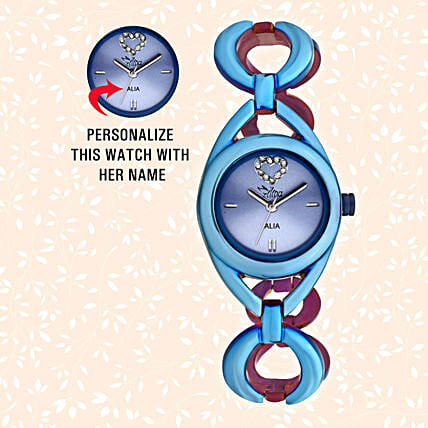 Personalised Blue Watch For Her: Personalised Watches
