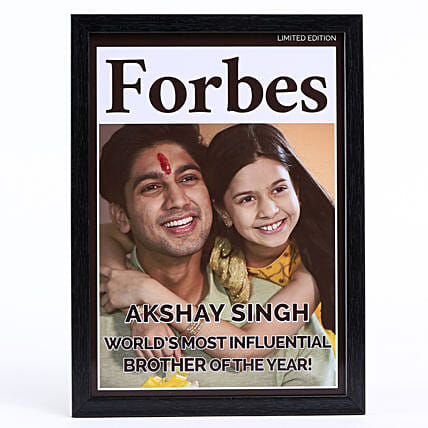 Personalised Brother Of The Year Frame: Bhai Dooj Personalised Gifts