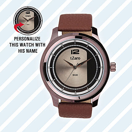 Personalised Brown Watch For Him: