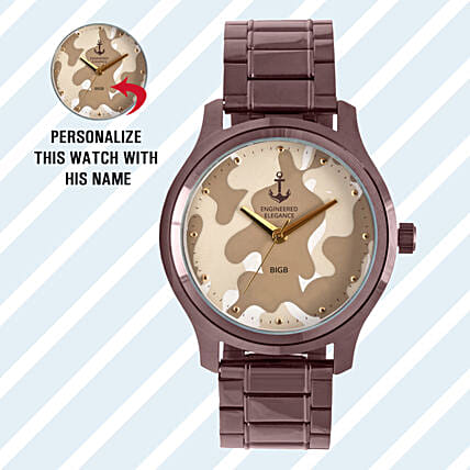 Personalised Camouflage Watch For Him: Personalised Watches