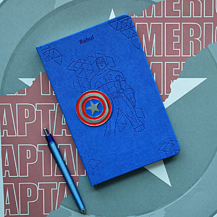 Personalised Captain America Notebook: Personalised Stationary