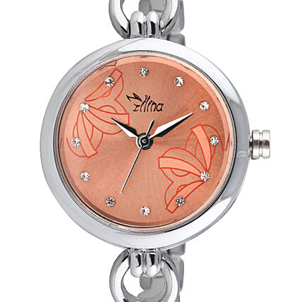 Personalised Classy Silver Watch: Fashion Accessories