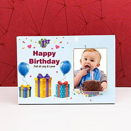 Personalised Colourful Happy Birthday Photo Frame: Personalised Photo Frames Gifts
