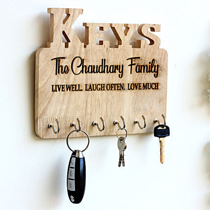 Personalised Engraved Family Name Key Holder: Personalised Engraved