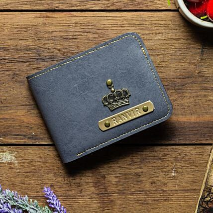 Personalised Grey Mens Wallet: Fashion Accessories