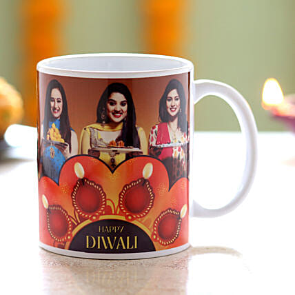 Personalised Happy Diwali Wishes Mug: Custom Photo Coffee Mugs