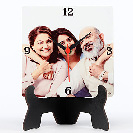 Personalised MDF Table Clock: Send Gifts for Parents Day