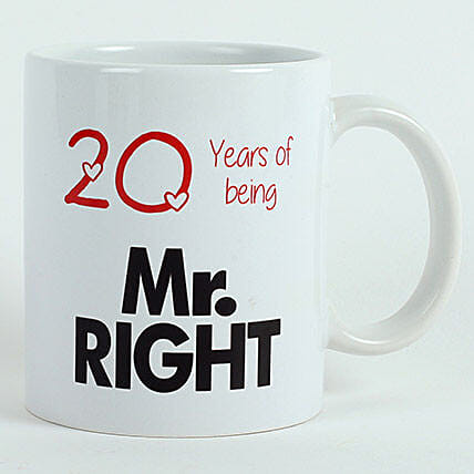 Personalised Mr Right Mug: Just Because Gifts