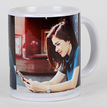 Personalised White Ceramic Mug: Custom Photo Coffee Mugs