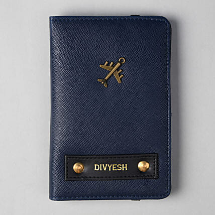 Personalised Navy Blue Passport Cover: Personalised Accessories
