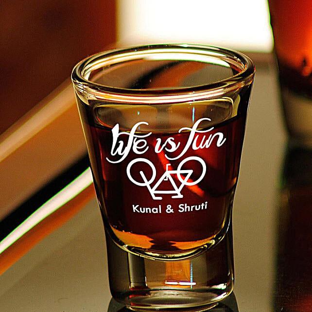 Personalised Set Of 2 Shot Glasses 1016: Personalised Shot Glasses