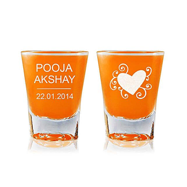 Personalised Set Of 2 Shot Glasses 2295: