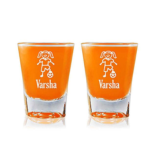 Personalised Set Of 2 Shot Glasses 2309: Personalised Shot Glasses