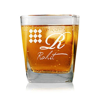 Personalised Set Of 2 Whiskey Glasses 2337: