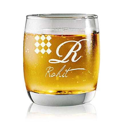 Personalised Set Of 2 Whiskey Glasses 2369: Bar Accessories