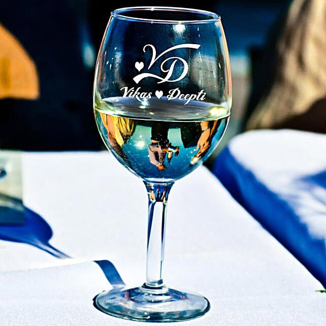 Personalised Set Of 2 Wine Glasses 1024: Personalised Glassware