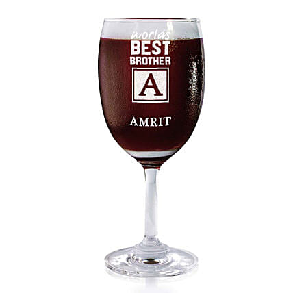 Personalised Set Of 2 Wine Glasses 2166: Personalised Wine glasses