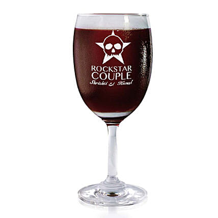 Personalised Set Of 2 Wine Glasses 2170: Bar Accessories