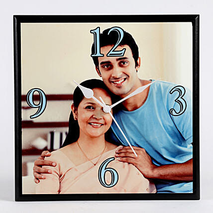 Personalised Square Wall Clock: Send Personalised Gifts to Lucknow