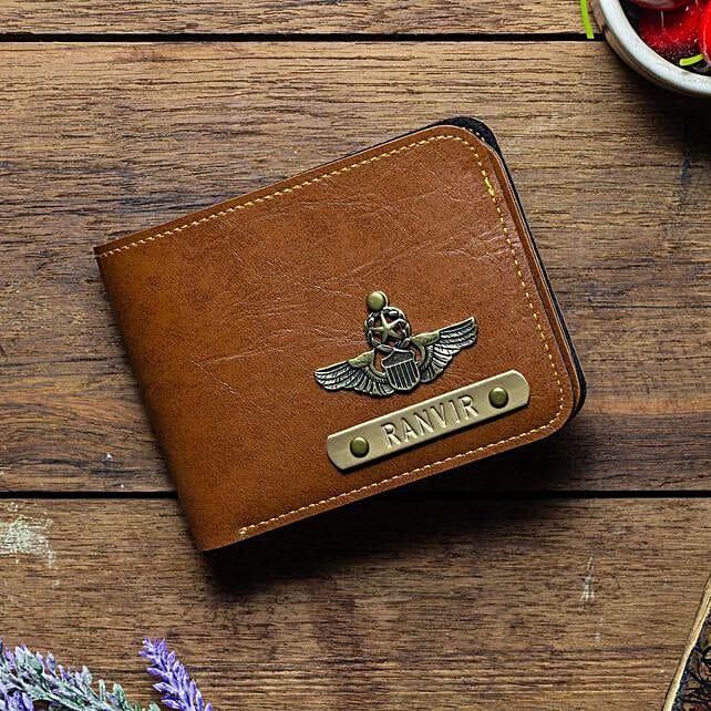 Personalised Tan Brown Mens Wallet: Accessories
